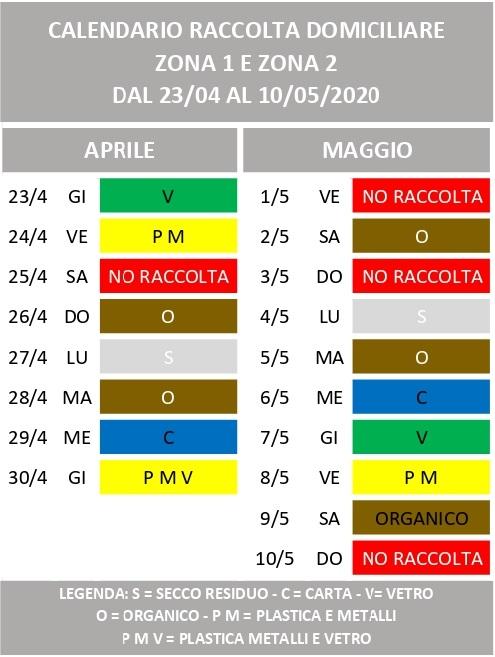 Calendario Differenziata 2021 Aprilia MODIFICHE AL CALENDARIO DI RACCOLTA IN OCCASIONE DELLE FESTIVITA
